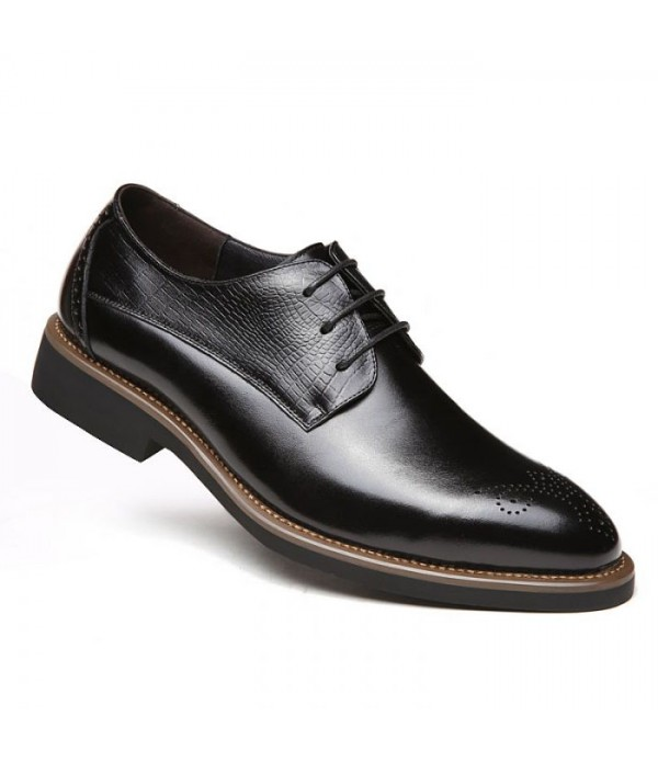Men's leather shoes business casual shoes